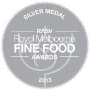 Royal Melbourne Fine Food silver award